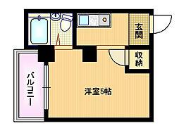 大阪府大阪市都島区内代町3丁目の賃貸マンションの間取り
