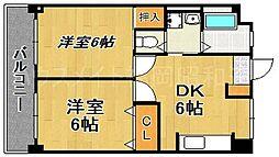 第1コーポ舞鶴ビル[7階]の間取り