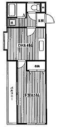 神奈川県横浜市保土ケ谷区岡沢町の賃貸アパートの間取り