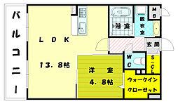 オータムレーベン2[5階]の間取り