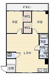 エーコービル[3階]の間取り