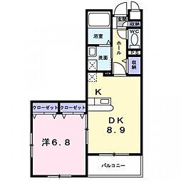 ピナイサーラ東大和[4階]の間取り