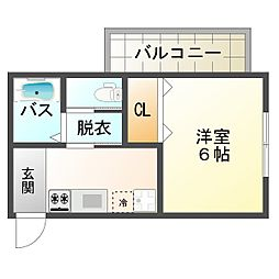 大阪府大阪市平野区加美西2丁目の賃貸アパートの間取り