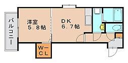 メゾンスペース[1階]の間取り