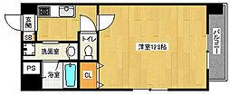 京都府京都市西京区御陵鴫谷の賃貸マンションの間取り
