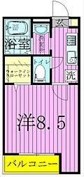 プランドール東松戸[303号室]の間取り