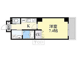 MASTUBOKKURIレジデンス 5階1Kの間取り