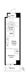 JR山手線 巣鴨駅 徒歩4分の賃貸マンション 4階1DKの間取り