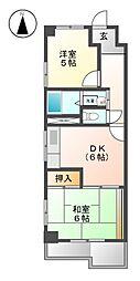松栄ビル上飯田[3階]の間取り