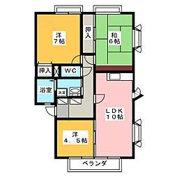 パインフォレストC[2階]の間取り