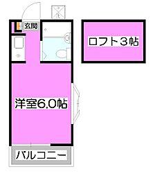 ホワイト・エミネンス[2階]の間取り