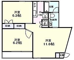 エスプリ・デュ・ミュール[3階]の間取り