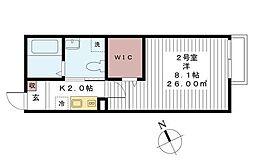 グレイスヴィラ新松戸[2階]の間取り