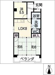 第一千寿ビル[6階]の間取り