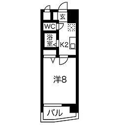 ヒルズ新栄(ヒルズシンサカエ)[205号室]の間取り