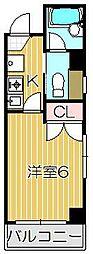 パーソンズホーム目黒[3階]の間取り