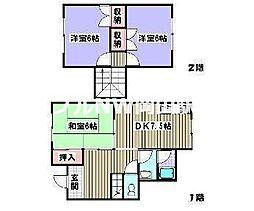 [テラスハウス] 岡山県岡山市南区西市丁目なし の賃貸【/】の間取り
