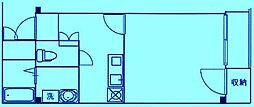 ハピネス溝の口[2階]の間取り