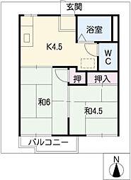 サンピアゴトーB棟[2階]の間取り