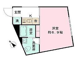 the KOISHIKAWA 5階ワンルームの間取り