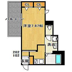 ミオカーメラ夏見[2階]の間取り