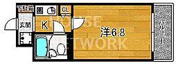 DETOM-1西陣III[215号室号室]の間取り