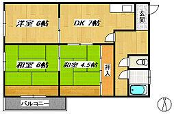 YNマンション[4階]の間取り