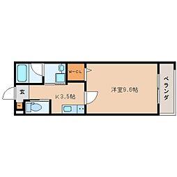 JR東海道本線 静岡駅 徒歩19分の賃貸マンション 3階1Kの間取り