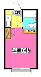 祇園ガーデン[1階]の間取り