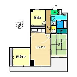ロイヤルファミーユ[3階]の間取り