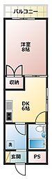 ジオナ松屋町[11階]の間取り