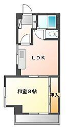 愛知県名古屋市中村区亀島1丁目の賃貸マンションの間取り