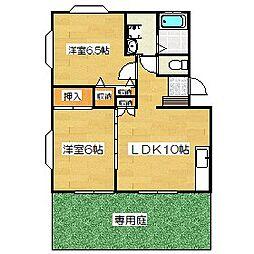 マツヤハイツI[112号室]の間取り