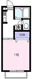 サンセールコーポM A棟[1階]の間取り