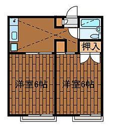 ファインコート町田[1階]の間取り