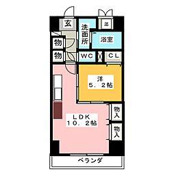 プレステージ新栄[7階]の間取り