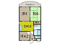 KUK[1階]の間取り