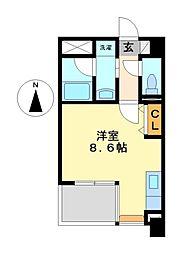 レーベスト松原[10階]の間取り