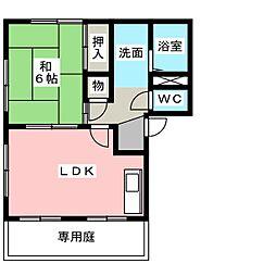 サンスクエア浅井A[1階]の間取り