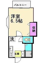 リヴェール仙川[1階]の間取り