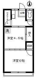 埼玉県川口市芝下2丁目の賃貸マンションの間取り
