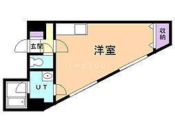 第6松屋ビル 10階ワンルームの間取り