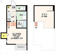 郷免町SKHコーポ[2階]の間取り