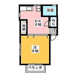 LE・FOSSE[2階]の間取り