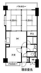 シティマンション平尾II[4階]の間取り