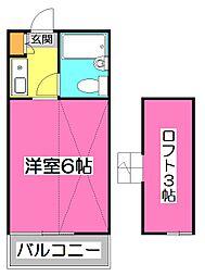 エスカ大和田[2階]の間取り