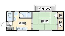 メゾン福田[202号室]の間取り