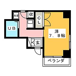 ルーミヤ鶴舞[3階]の間取り