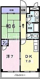 東京都東久留米市八幡町2丁目の賃貸マンションの間取り