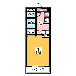 グリーンベル桜島[2階]の間取り